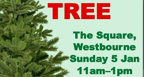 Christmas tree recycling on Sunday 5 January